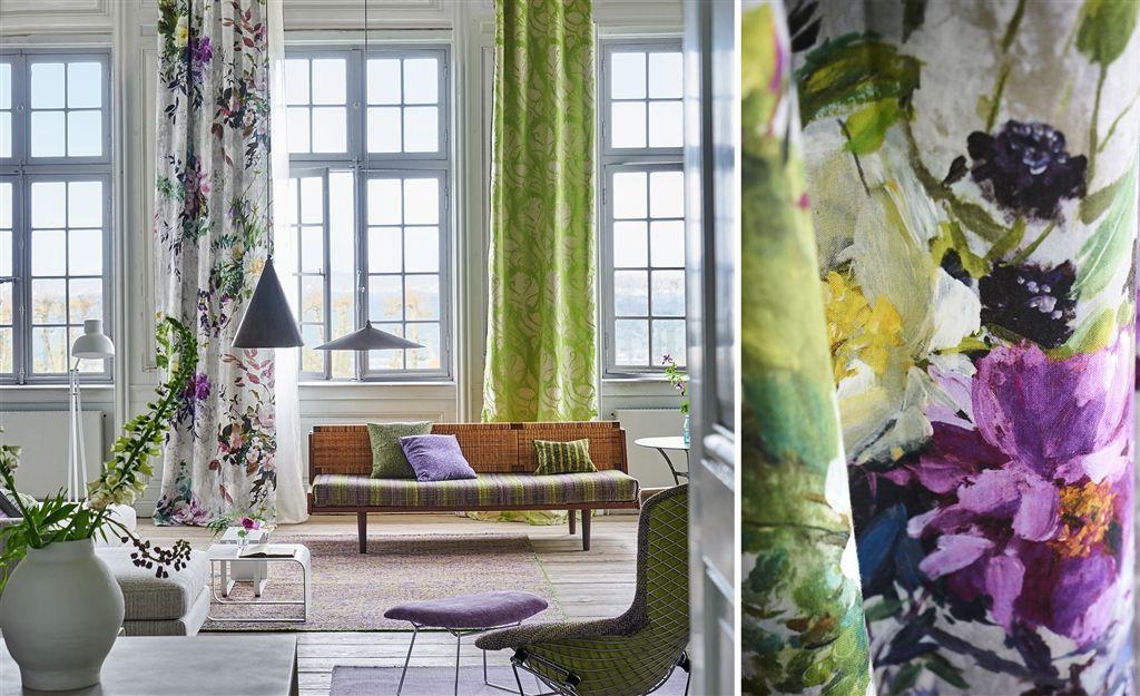 #nikinterieurkleuradvies #interieurstoffen#designersguild #jardindesplantes #gordijnen
