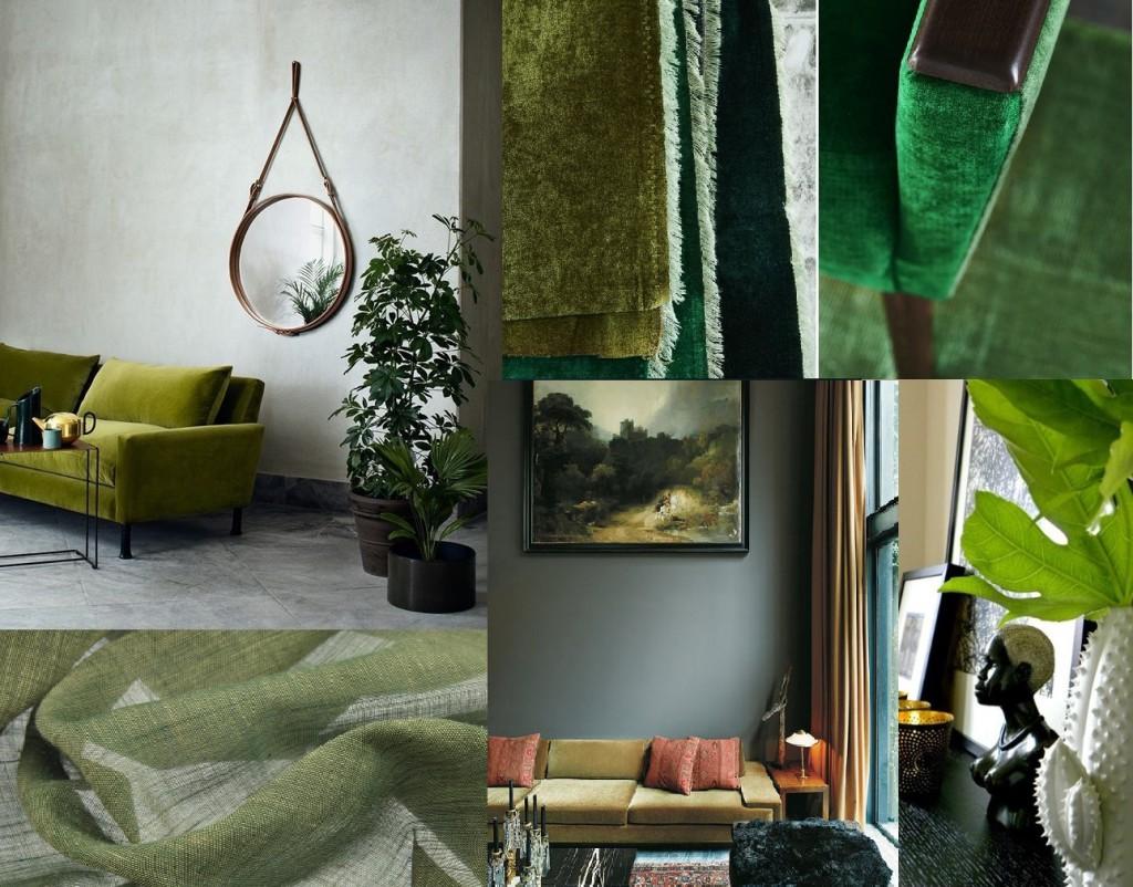 #nikinterieurkleuradvies#blog #interieurstoffen #collage3#groen#designersguild #kobe