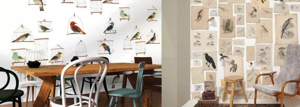 #collage #nikinterieurkleuradvies #blog #behang #vogels #storiesonthewall #vogelschetsen #johnWolf #naturalisoriginals