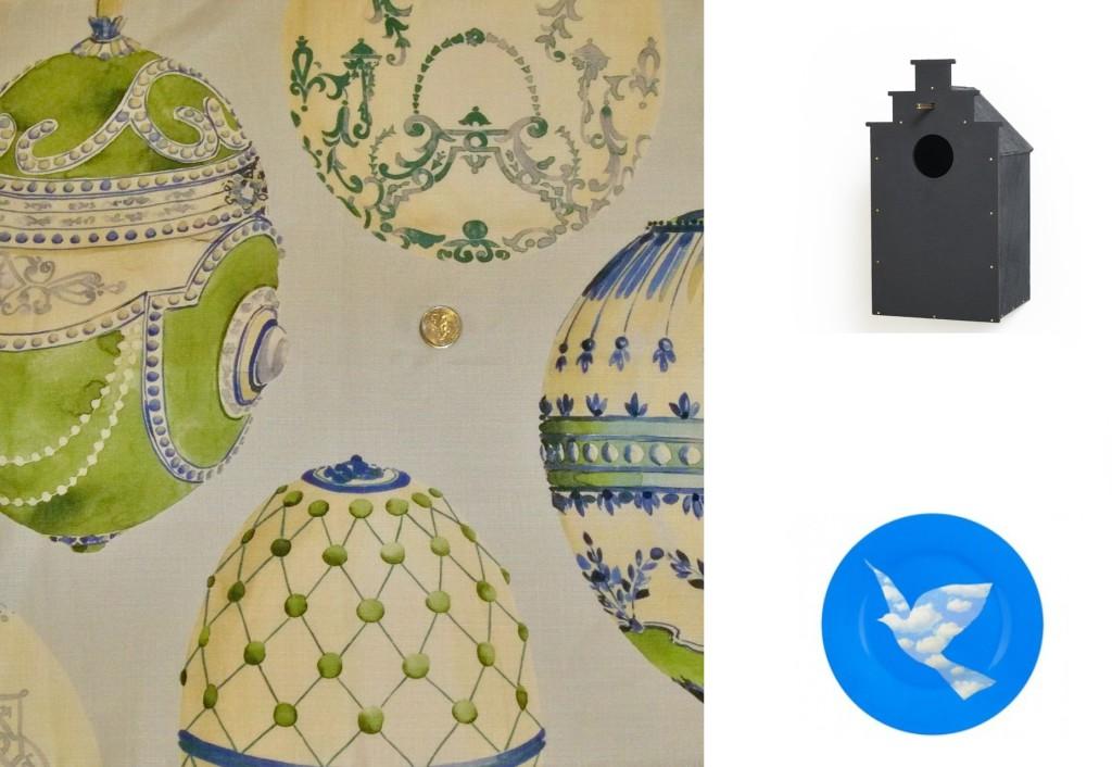 #collage #nikinterieurkleuradvies #blog #magritte#kravet#lee-jofa#faberge-eggs #linen-#fabric #interieur#CANAL-BIRDHOUSE #frederikroije